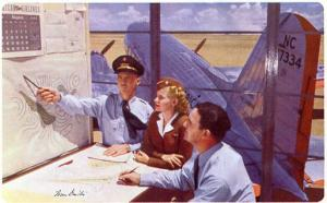 American Airlines - Navigation Planning (Airline Issued) - Artist Signed: Iva...