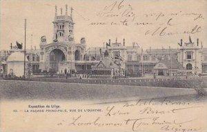 Belgium Liege Expo 1905 La Facade Principale Vue de L'Ourthe