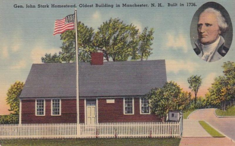 New Hampshire Manchester General John Stark Homestead Oldest Building In Manc...