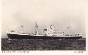 SS Potosi Pacific Steam Navigation Company Ship Old RPC Postcard