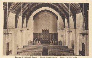 Massachusetts Mount Herman Interior Of Memorial Chapel Mount Herman School Al...