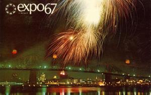 Canada - Quebec, Montreal. Expo '67 Fireworks