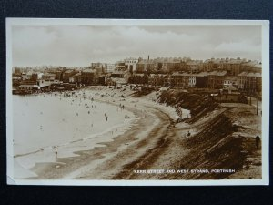 N.I. Antrim PORTRUSH Kerr Street & West Strand c1940 RP Postcard by R.B. Adams