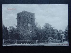 London Staines LALEHAM Church - Old Postcard by M.J.R. - B 6932