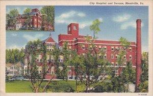 City Hospital And Terrace Meadville Pennsylvania