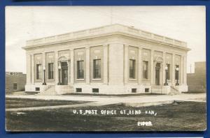 Great Bend Kansas ks US Post Office real photo postcard RPPC