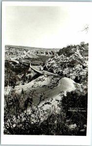 1940s Texas RPPC Postcard PECOS AUTO BRIDGE Highway 90 R.L. Warren Photo