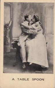Romantic Couple Kissing A Table Spoon 1909