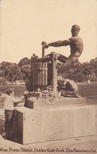 SAN FRANCISCO, California; Wine Press Statue, Golden Gate Park, 00-10s