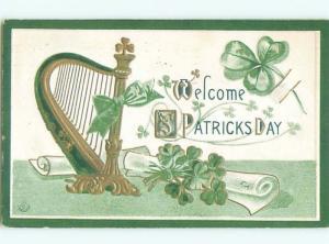 Divided-Back ST. PATRICK'S DAY SCENE Great Postcard W8085