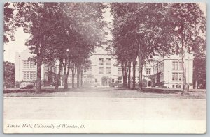 University of Wooster Ohio~Panoramic View of Kaske Hall c1905 UDB Sepia Postcard
