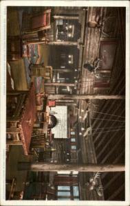 Grand Canyon AZ Hotel El Tovar Interior c1910 Postcard