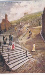 WHITBY, Yorkshire, England, 1900-1910's; Church Steps