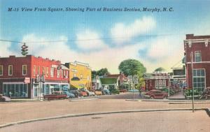 Postcard Business District Murphy North Carolina