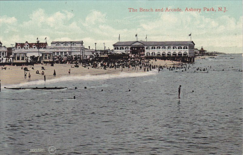 ASBURY PARK, New Jersey; The Beach and Arcade, 00-10s