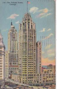 Illinois Chicago The Tribune Tower 1949 Curteich