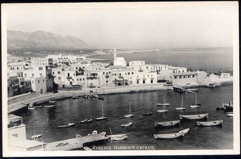 cyprus, KYRENIA, Harbour Scene, Sailing Ships (1950s) RPPC