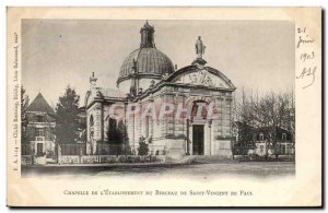DAx Postcard Old Chapel of & # 39etablissement the birthplace of St. Vincent ...
