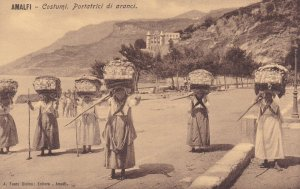 AMALFI, Campania, Italy, 1900-1910's; Costumi, Portatrici Di Aranci, Women Ca...