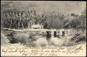 seychelles, MAHE, Anse Etoile, Cayman River, Bridge (ca. 1899)