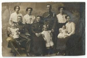 WW1 Era Red Cross / St John Ambulance With Family Member in Uniform RP PPC