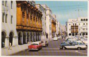 Peru Lima Arcades Of The Plaza de Armas Street Scene