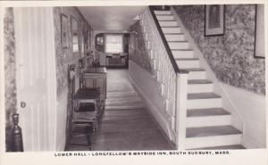 Lower Hall Longfellow's Wayside Inn South Sudbury Massachusetts Real Photo