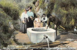 Boiling Eggs in Penyugal, Arrowhead Hot Springs, CA 1910 Vintage Postcard