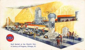 Chicago IL 1933 Century of Progress Exposition Gulf Exhibit Postcard