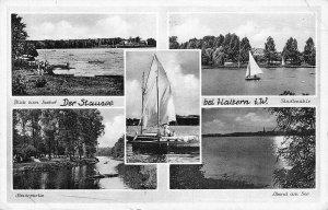 Der Stausee bei Haltern Stadtmuhle Seehof Lake Boats Postcard