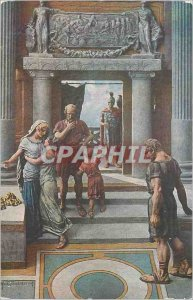 Postcard Old Quo Vadis Lygia by Mastroianni leaves the house of Aulus