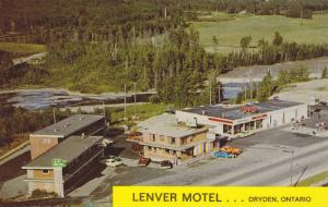 Aerial View, Lenver Motel & Restaurant, Dryden, Ontario, Canada, 40-60s