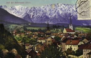 austria, IMST mit Heiterwand, Tirol Tyrol, Panorama (1924) Postcard Stamp