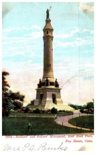 Connecticut  New Haven , Soldier's and Sailor's Monument , East Roc...