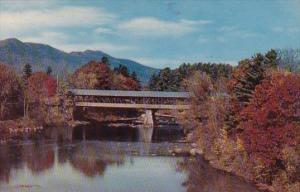 Covered Bridge At Jackson White Mountain New Hampshire