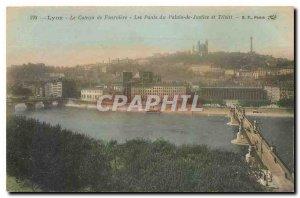 Old Postcard Lyon Le Coteau de Fourviere Bridges Courthouse and Tilsit