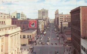 Spokane Washington~Riverside Avenue East~Hoffman Bros Music Co~Theatre~Flags~'53