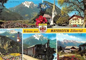 Mayrhofen Zillertal, Zillerbahn Gschoesswandhuette Grinberg mit Penkenbahn