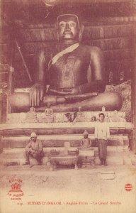 Cambodia Ruines D'Angkor Angkor Thom Le Grand Bouddha 03.77