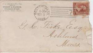 BOSTON MA - WIGGIN & FAUNCE / LAWYERS 1886 Cover