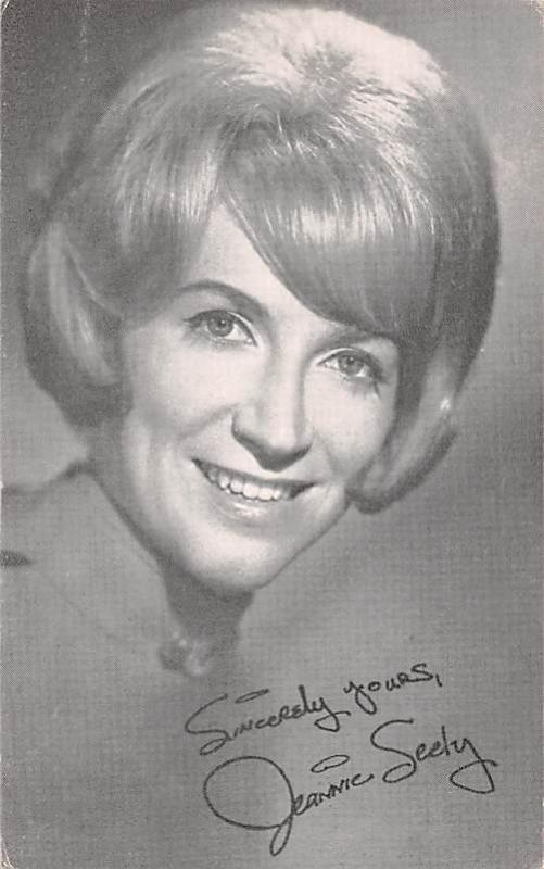 Jeannie Seely Non Postcard Backing Unused