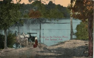 HOT SPRINGS , Arkansas, 1900-10s ; Ferry on the Oucheto River