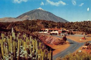 Spain Islas Canarias Tenerife El Portillo Behind the Teide Postcard