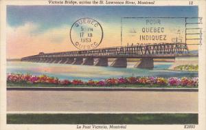 Victoria Bridge Across St Lawrence River Montreal Canada