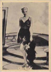 B A T Vintage Cigarette Card Grace & Beauty No 32 Elaine Ruby  1938