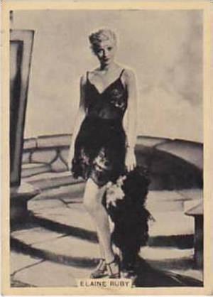B A T Vintage Cigarette Card Grace & Beauty No 32 Elaine Ruby  1938
