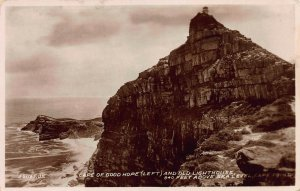 Cape of Good Hope and Old Lighthouse, South Africa, Early Real Photo Postcard