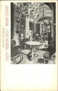 Rome Roma Continental Hotel Ladies Room c1900 UDB Postcard
