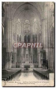 Postcard Old Torfou Interior of the Chapel of the Holy City of Mary of Torfou