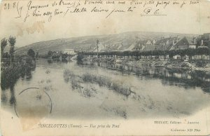 Postcard cpa FRANCE vincelottes yonne